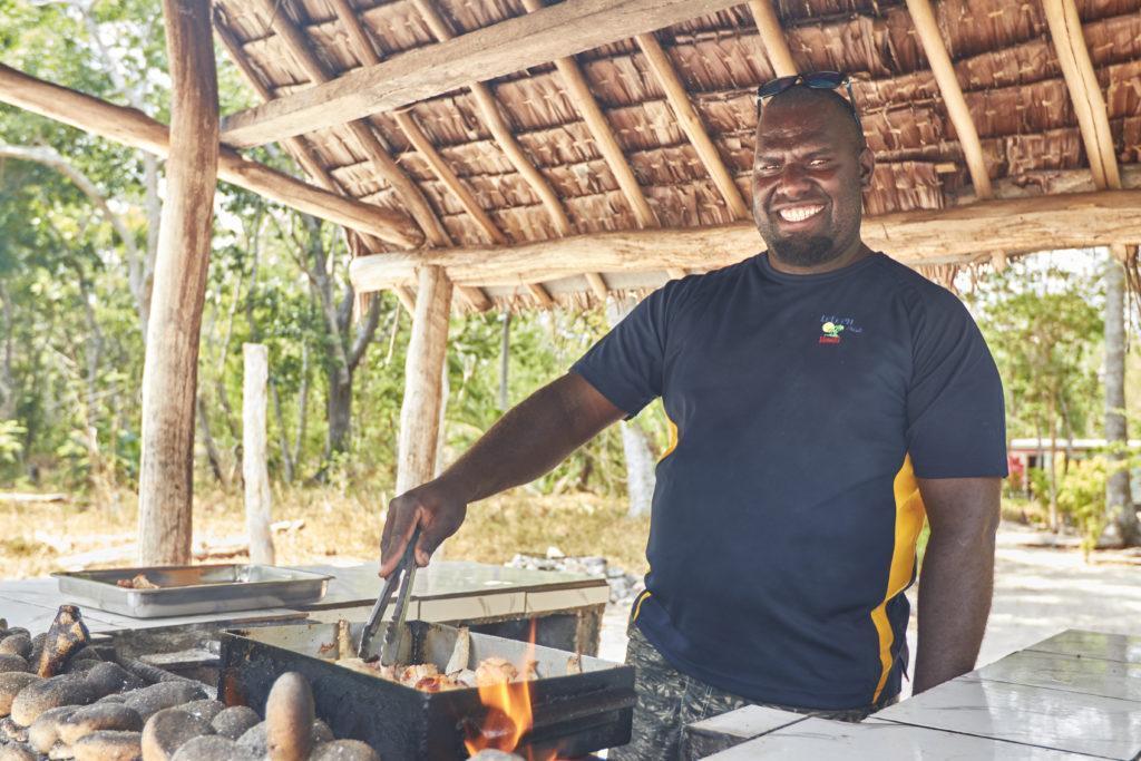 Albert Peters cooking