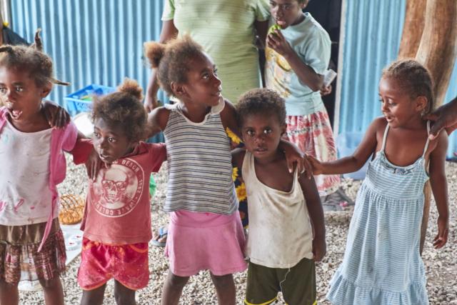 The local village children